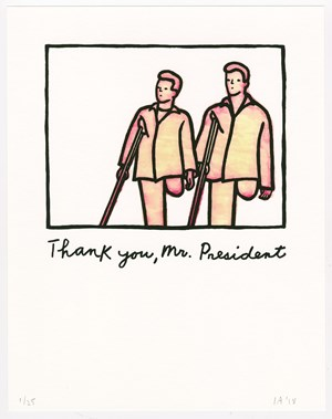 Thank You, Mr. President by Ida Applebroog contemporary artwork