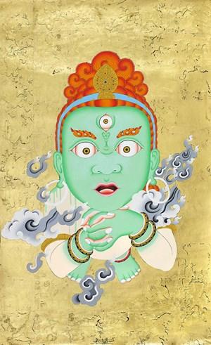Spirit Unlimited (Green) by Tsherin Sherpa contemporary artwork