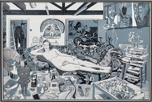 Reclining Artist by Grayson Perry contemporary artwork