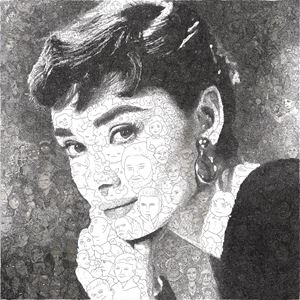 Hystorical Portraits – vol. 5 Audrey Hepburn by Keita Sagaki contemporary artwork