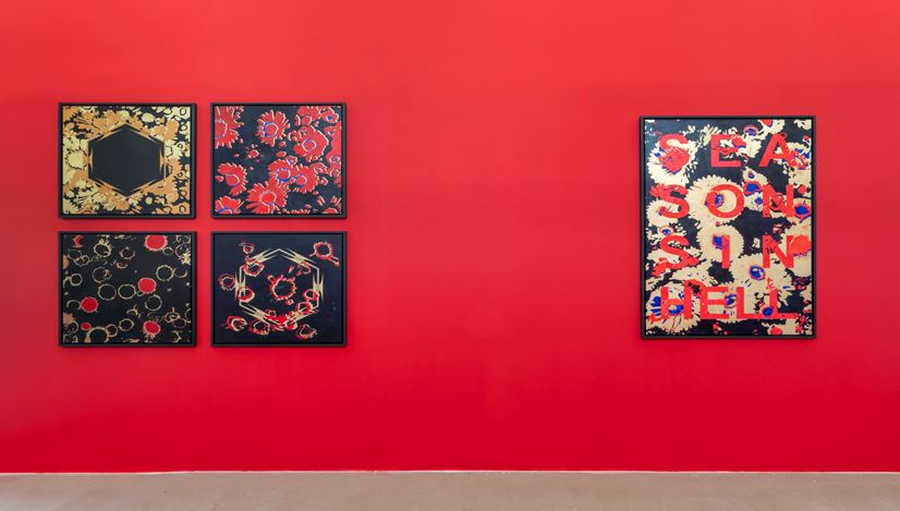 Exhibition view: Kendell Geers, OrnAmenTum'EtKriMen curated by Danilo Eccher, M77, Milan (21 September 2020–2 April 2021). Courtesy M77.