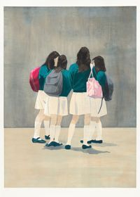 White Skirts by Tim Eitel contemporary artwork drawing