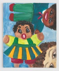 Lookin' at 2 Dolls by Betye Saar contemporary artwork painting