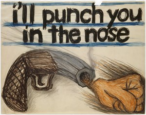 I'll punch you in the nose by Lee Lozano contemporary artwork