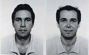 Jeff Koons (diptych) by Jiří David contemporary artwork