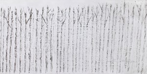 Withered Forest, Flock of Crows, Temple《枯林鴉群寺廟》 by Yeh Shih-Chiang contemporary artwork
