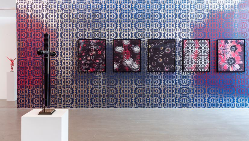 Exhibition view: Kendell Geers, OrnAmenTum'EtKriMen curated by Danilo Eccher, M77, Milan (21 September 2020–30 January 2021). Courtesy M77.