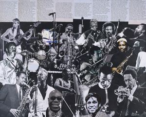My free form dream band by Sam Nhlengethwa contemporary artwork