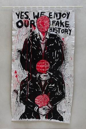 We Enjoy Our Fake History by Eko Nugroho contemporary artwork