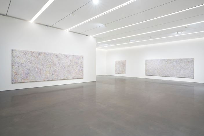 Exhibition view: Sam Gilliam, Existed Existing, Pace Gallery, New York (6 November–19 December 2020). © Sam Gilliam / Artists Rights Society (ARS), New York. Courtesy Pace Gallery.