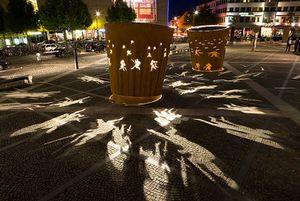 Battle Drums by Dennis Oppenheim contemporary artwork sculpture, installation