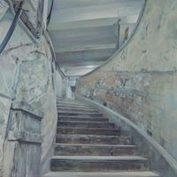 Central Mall - Spiral Stairs by Lu Liang contemporary artwork painting