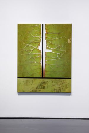 The crack (green & red) by Andrew Browne contemporary artwork