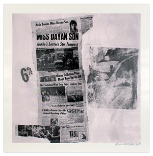 Features from Currents #76 by Robert Rauschenberg contemporary artwork