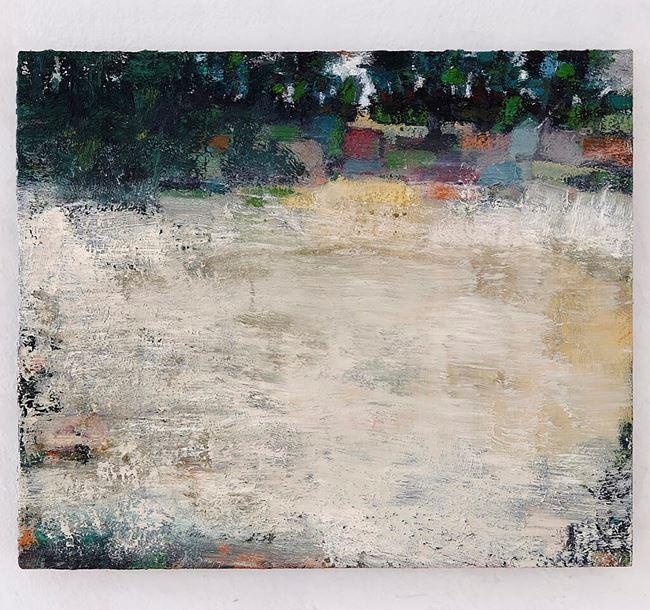 Spät Sommer - Bodennebel hinter Nöthen by Peter Tollens contemporary artwork