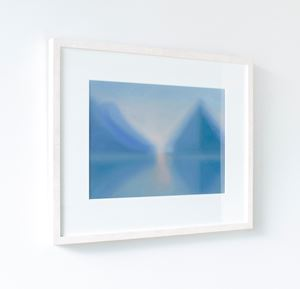 Piopiotahi/Milford Sound reflection by Lucy O'Doherty contemporary artwork painting, works on paper, drawing