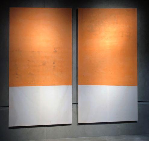 Fredrik Værslev, Untitled (Canopy Painting) (2013). Exhibition view: Fredrik Værslev, Room #3, KEWENIG, Berlin (19 March–18 April 2019). Courtesy KEWENIG.