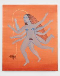 Llaverito (Blue) by Cecilia Vicuña contemporary artwork painting