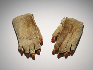 Fur Gloves With Wooden Fingers by Meret Oppenheim contemporary artwork