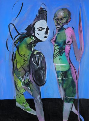 Blind Date by David Lehmann contemporary artwork painting, works on paper, drawing