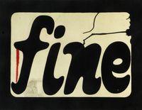 Schermo Fine (Screen End) by Estate Fabio Mauri contemporary artwork works on paper