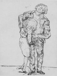 Mann und Frau by Marwan contemporary artwork print