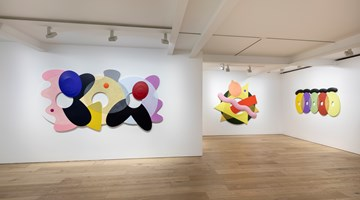 Contemporary art exhibition, Josh Sperling, Two Purple Tigers at Perrotin, Seoul, South Korea