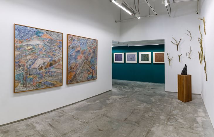 Exhibition view: Adip Dutta & Meera Mukherjee, Nestled, Experimenter, Hindustan Road (22 January–31 March 2021).Courtesy Experimenter, Kolkata.