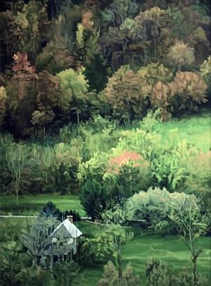 La vie retiré dans une vallée 山谷幽居 by Chen Jianzhong contemporary artwork