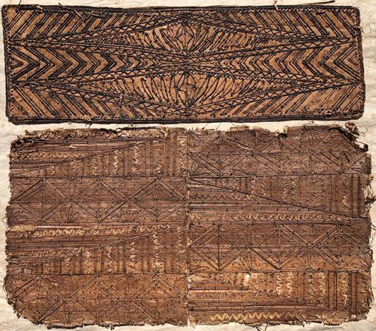 Mixed design,Tongan kupesi (prior to 1930s). Courtesy Lady Tunakaimanu Fielakepa