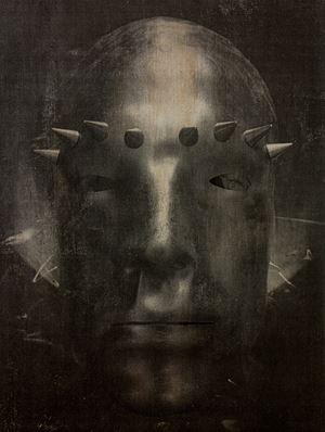 Rainbow Warrior (Mask) by Tobias Bernstrup contemporary artwork mixed media