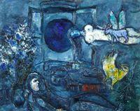 La Fenetre dans le ciel by Marc Chagall contemporary artwork painting