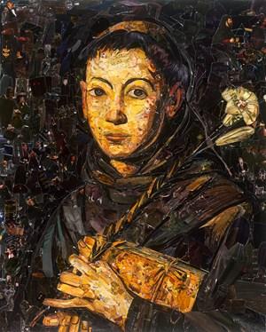 Repro (Saints): Sant'Antonio da Padova, after Tanzio da Varallo by Vik Muniz contemporary artwork