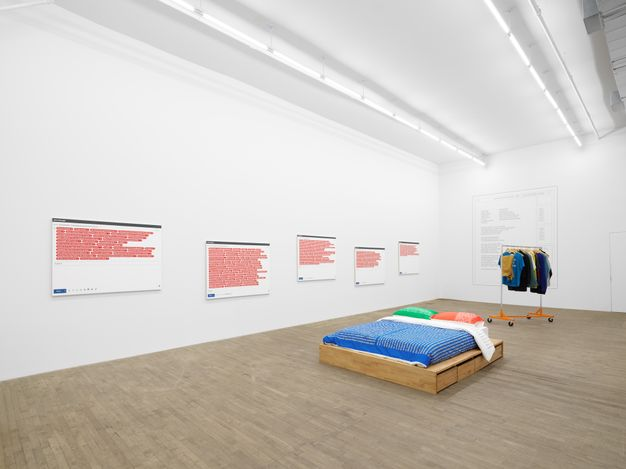Exhibition view:Darren Bader, The Plastic Arts (Life Suffuses, Cells Amused), Andrew Kreps Gallery, 55 Walker Street, New York (4 June–10 July 2021). Courtesy Andrew Kreps Gallery.