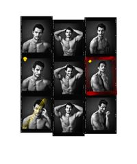 David Gandy Contact Sheet by Andy Gotts contemporary artwork photography, print
