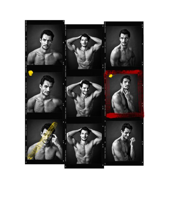 David Gandy Contact Sheet by Andy Gotts contemporary artwork