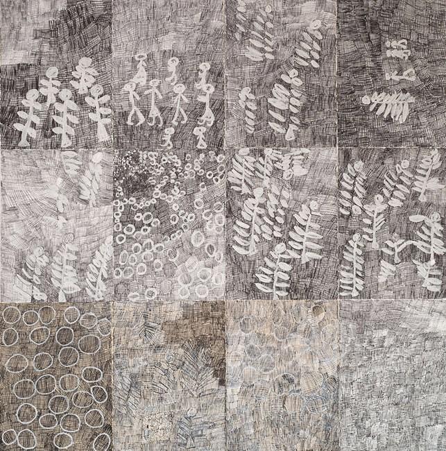 Djorra (paper) 1 by Nyapanyapa Yunupiŋu contemporary artwork