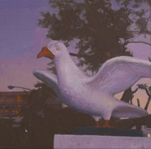 Pigeons in the Park by Lin Yen Wei contemporary artwork