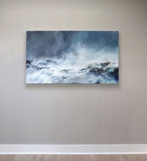 Sea State - force 8 - northwesterly winds, Ness of Bakka by Janette Kerr contemporary artwork