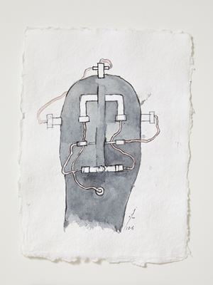 Head[case] working drawing 5 by Julia Morison contemporary artwork