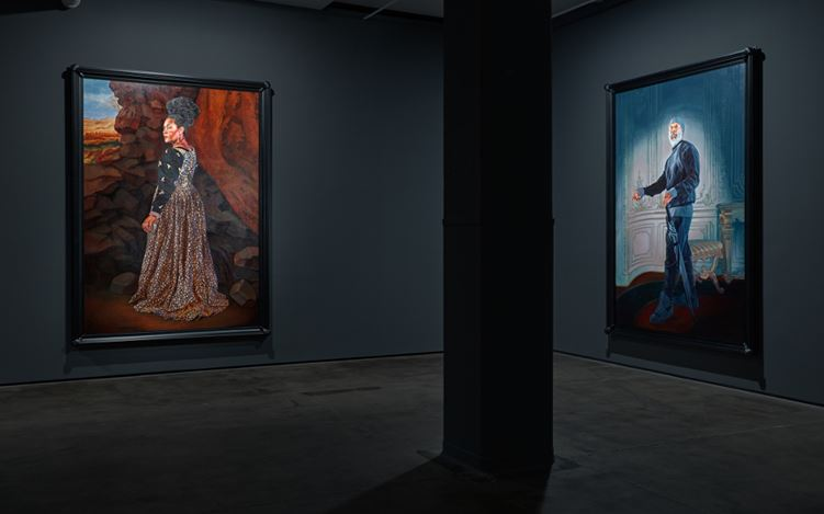 Exhibition view: Kehinde Wiley, Trickster, Sean Kelly, New York 6 May-17 June 2017. Courtesy Sean Kelly, New York.