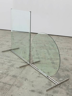 Tondo e rettangolo (Circle and Rectangle) by Luciano Fabro contemporary artwork