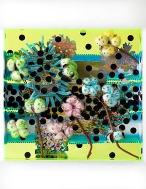 Midnight toxic-blossom beach-aquarium by Lisa Vlaemminck contemporary artwork