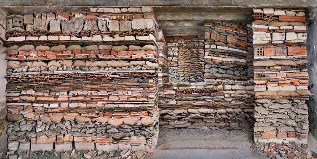 Destroyed House Arles 3 by Marjan Teeuwen contemporary artwork
