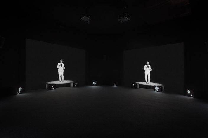 UGO RONDINONE: I ♥ JOHN GIORNO, installation view of Thanx 4 Nothing (2011) by Ugo Rondinone at Sky Art, 2017, © Ugo Rondinone, Photo Credit: Daniel Pérez. Image provided by Kukje Gallery.
