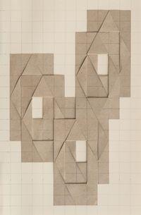 6 geschichtete und mittig aufgeklappte Rechtecke by Karl-Heinz Adler contemporary artwork works on paper