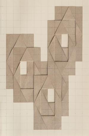 6 geschichtete und mittig aufgeklappte Rechtecke by Karl-Heinz Adler contemporary artwork