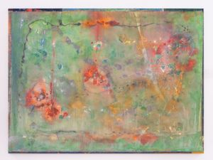 Wobbly V with Bunches by Frank Bowling contemporary artwork