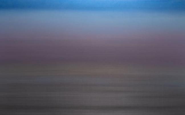 Miya Ando, Blue Lavender Silver 4.8 (2018) (detail). Pigment and urethane on aluminium. 122 x 244 cm. Courtesy Sundaram Tagore Gallery.