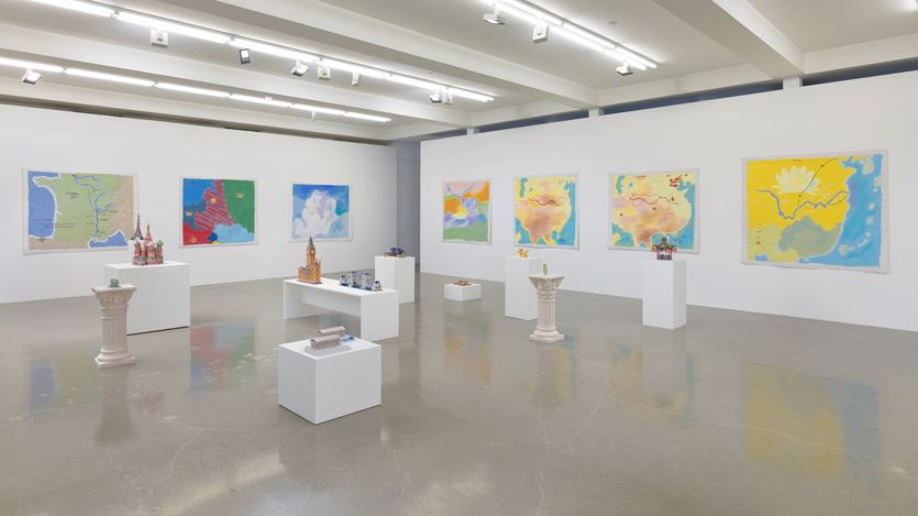 Exhibition view: Karen Kilimnik, Sprüth Magers, Los Angeles (12 September–26 October 2019). Courtesy Sprüth Magers.